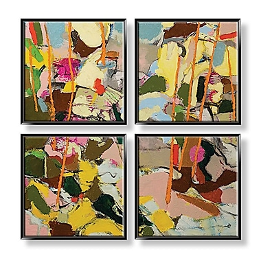 PTM Images Colorful 4 Piece Framed Painting Print Set