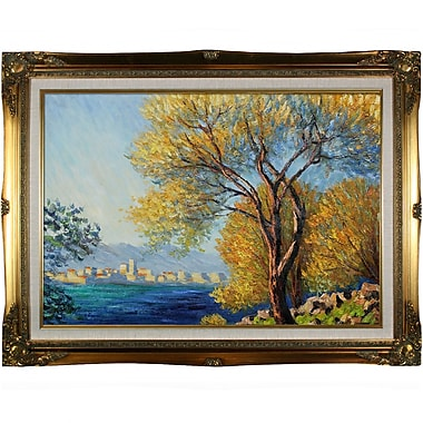 Tori Home Antibes, View of Salis by Monet Framed Hand Painted Oil on Canvas