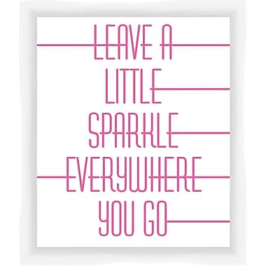 PTM Images Leave a Little Sparkle Gicl e Framed Textual Art in Pink