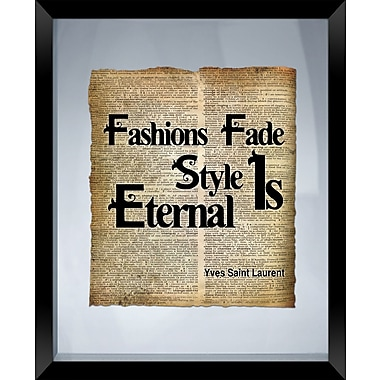 PTM Images Fashion Fades Framed Textual Art