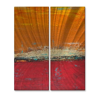 All My Walls 'Lithosphere 32' by Hilary Winfield 2 Piece Graphic Art Plaque Set