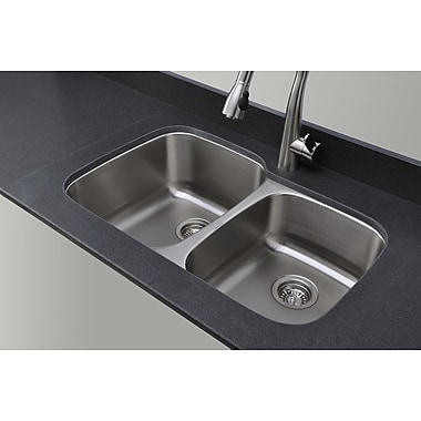 WELLS SINKWARE Craftsmen Series 32.13'' x 20.63'' 60/40 Double Bowl Kitchen Sink