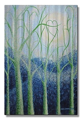 All My Walls 'Two Hearts' by Holly Carmichael Painting Print Plaque