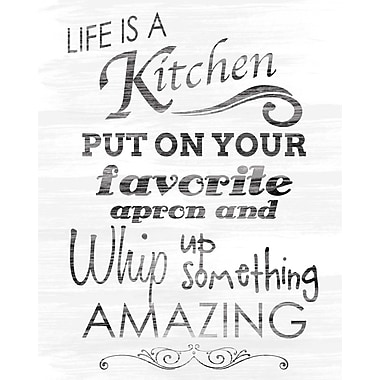 PTM Images Life Is a Kitchen Textual Art
