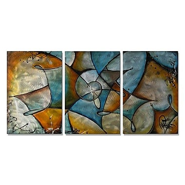 All My Walls 'Twisted' by Marina Rehrmann 3 Piece Graphic Art Plaque Set