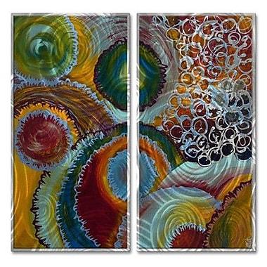 All My Walls 'Inside My Head' by Marina Rehrmann 2 Piece Graphic Art Plaque Set