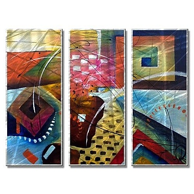 All My Walls 'Game Time' by Marina Rehrmann 3 Piece Graphic Art Plaque Set