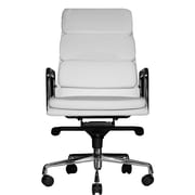 Wobi Office Clyde High-Back Leather Executive Chair; White