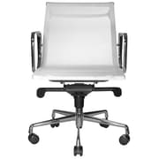 Wobi Office Reed Mid-Back Mesh Desk Chair; White