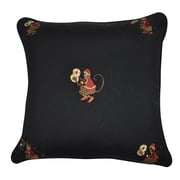Loom and Mill Decorative Cotton Throw Pillow; Black, Brown, Red, Silver and Gold