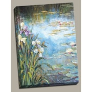 Portfolio Canvas Iris Lily Pads I Painting Print on Wrapped Canvas