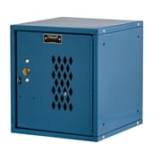 Hallowell Cubix 1 Tier 1 Wide Safety Locker; Marine Blue