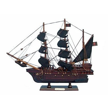 Ed Low's Wooden Rose Pink Pirate Model Ship Christmas Tree Topper Decoration