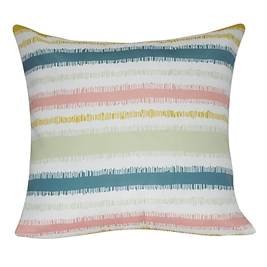 Loom and Mill Stripe Decorative Throw Pillow; Pink