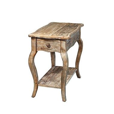 Alaterre Simplicity Driftwood End Table w/ Storage