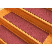 Bungalow Flooring Aqua Shield Solid Red Fall Day Stair Tread (Set of 4)