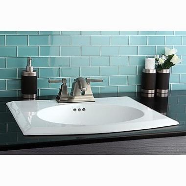 Kingston Brass Monarch Double Handle Centerset Bathroom Faucet w/ Pop-Up Drain; Satin Nickel