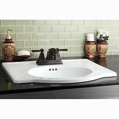 Kingston Brass Monarch Centerset Bathroom Faucet w/ Pop-Up Drain; Naples Bronze