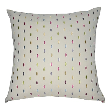 Loom and Mill Decorative Cotton Throw Pillow; Cream, Purple, Pink, Blue, Teal, Yellow and Green