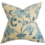 The Pillow Collection Duscha Floral Throw Pillow; 18'' x 18''