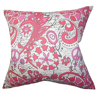 The Pillow Collection Adelpha Floral Cotton Throw Pillow Cover