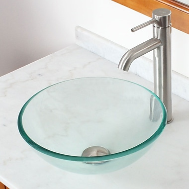 Elite Tempered Glass Circular Vessel Bathroom Sink