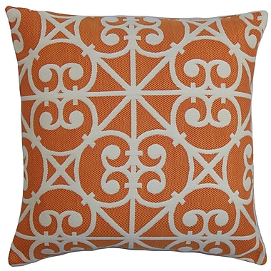 The Pillow Collection Quiteria Geometric Outdoor Throw Pillow; 18''x18''