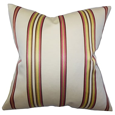 The Pillow Collection Hatsy Stripes Throw Pillow; 18'' x 18''