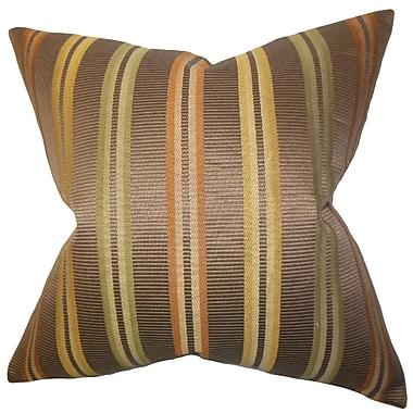 The Pillow Collection Dorsey Stripes Cotton Throw Pillow; 18'' x 18''
