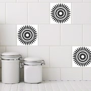 Odhams Press Retile Sunflower Wall Decal (Set of 10); Black on White