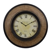 Decor Therapy Oversized 29.92'' Wall Clock; Walnut