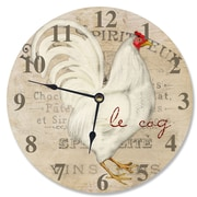 Stupell Industries 12'' Le Coq Rooster Vanity Clock