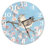 Stupell Industries 12'' Blossom Bird Vanity Clock