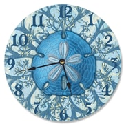 Stupell Industries 12'' Blue Sand Dollar and Coral Wall Clock