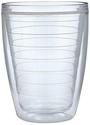 Chenco Inc. Ribbed 16 oz. Plastic Every Day Glass (Set of 4)