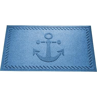 Bungalow Flooring Aqua Shield Ship's Anchor Doormat; Medium Blue