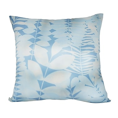 Loom and Mill Leaf Decorative I Throw Pillow; Light Blue