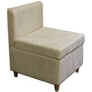 ORE Furniture Side Chair w/ Storage; Cream