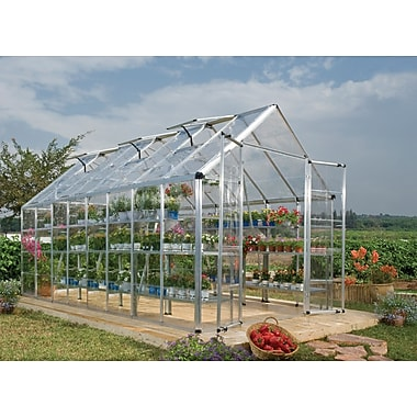 Palram Snap & Grow 8 Ft. W x 16 Ft. D Greenhouse; Silver