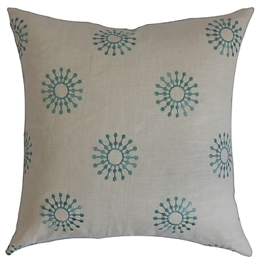 The Pillow Collection Irece Floral Cotton Throw Pillow Cover