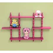 Mega Home Kid's 3 Tier Wall Shelves; Pink