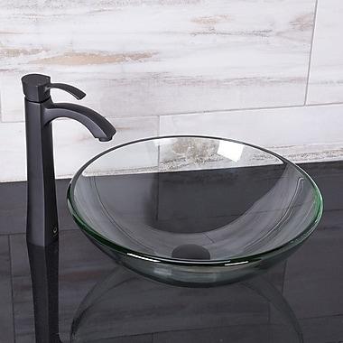 Vigo Otis Single Hole Bathroom Faucet; Matte Black