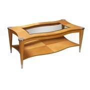 Alpine Furniture Sausalito Rectangular Coffee Table In A Natural Finish