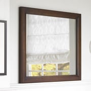 Ronbow Transitional 30'' x 35'' Solid Wood Framed Bathroom Mirror in Caf  Walnut