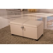 NOYA USA Classic Storage Bedroom Bench; Beige