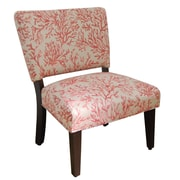 HomePop Accent chair in Salmon