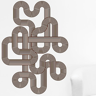 Style and Apply Endless Retro Wall Decal; Beige
