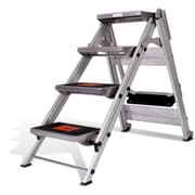 Little Giant Ladder 4.58 ft Aluminum Safety Step Ladder w/ 300 lb. Load Capacity