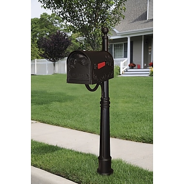 Special Lite Products Hummingbird Mailbox w/ Post Included; Black