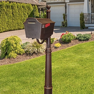 Special Lite Products Town Square Mailbox w/ Post Included; Copper